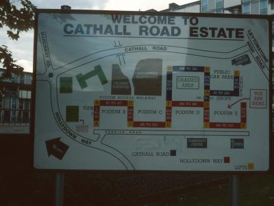 Map of Cathall Road Estate