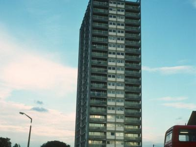 View of 22-storey block on Browning Road