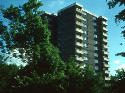 View of St George's Court from Lea Bridge Road