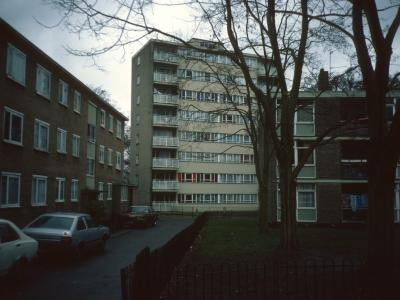 View of Eastwick Court from Windlesham Grove/Wainford Close