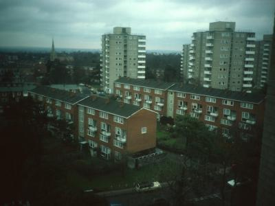 View of 11-storey blocks on Alton Estate (East) from South