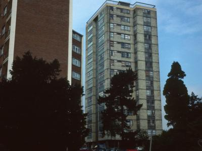 View of 146-256 Keevil Drive with 1-34 Stapleford Close in foreground