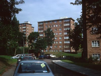 View of 8-storey blocks on Southmead Road development