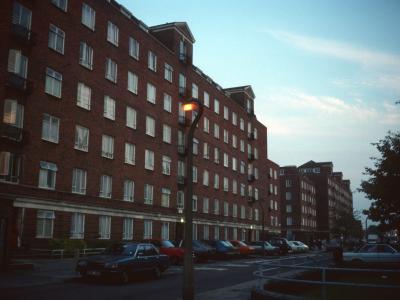 View of 7-storey blocks on Wendelsworth Estate