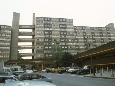 View of 13-storey and 10-storey block on Doddington Estate