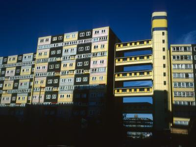 View of 13-storey and 10-storey block on Doddington Estate