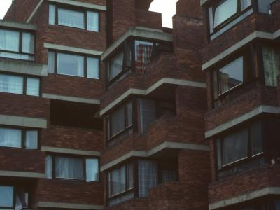 View of block on Lillington Street Estate