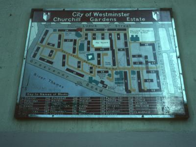 Map of Churchill Gardens Estate