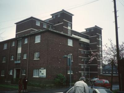 View of one Queens Park Court block