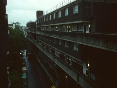 View of 7-storey blocks on Brunel Estate