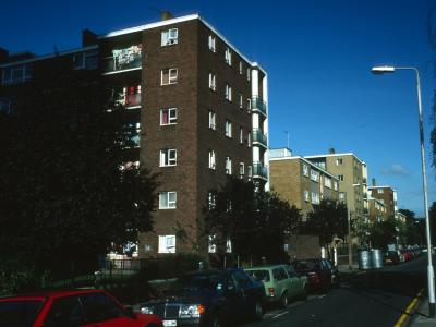 View of 6-storey block on Hall Place