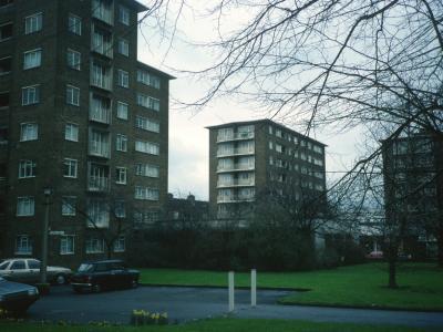 View of 8-storey blocks on Wellington Road