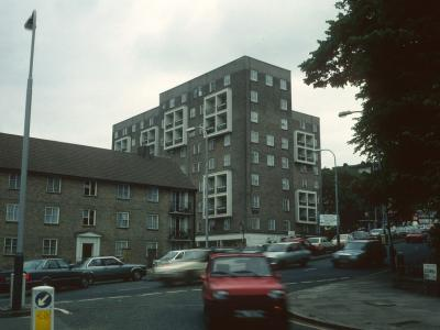 View of Farjeon House from Alexandra Road