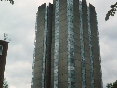 View of 24-storey block on Chalcots Estate