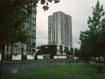 View of 24-storey blocks on Chalcots Estate