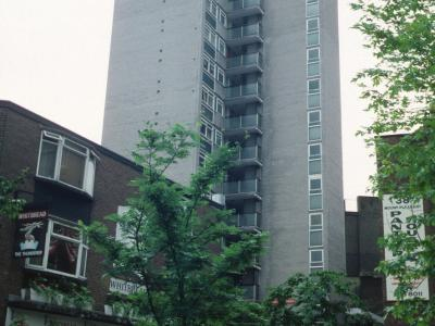 View of Mullen Towers