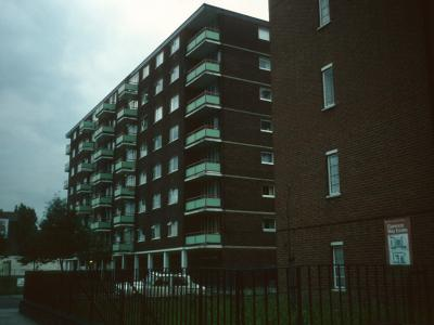 View of Castle Court from Castlehaven Road