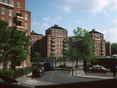 View of Crowndale Court and Godwin Court from Crowndale Road