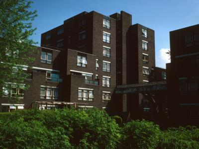 View of 7-storey block on Oakley Square