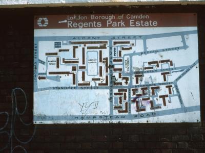 Map of Regents Park Estate