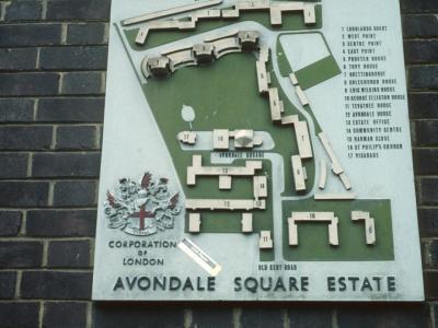 Map of Avondale Square Estate