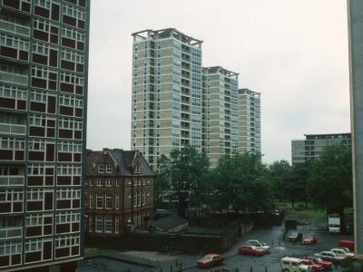 View of three 20-storey blocks