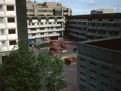 View of 7-storey blocks in Petticoat Square