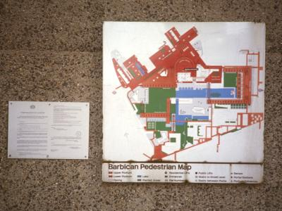 Map of Barbican Estate