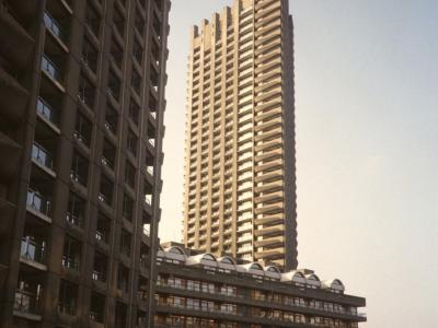 View of high-rise blocks on Barbican Estate