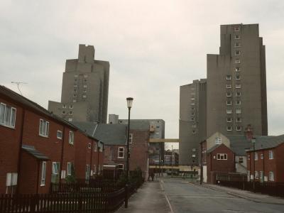 View of blocks on Woodlands estate