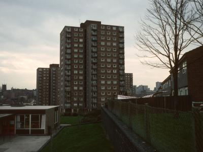 View looking West of 16-storey blocks in Sneinton