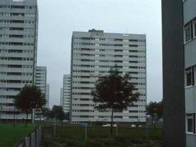 View of 16-storey blocks in Castle Vale
