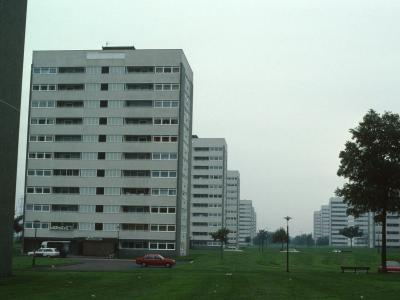 View of 11-storey blocks on Farnborough Road