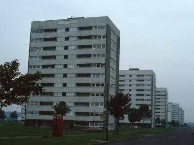 View of 11-storey blocks on Farnborough Road