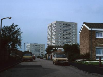 View of 11-storey block on Winchester Drive