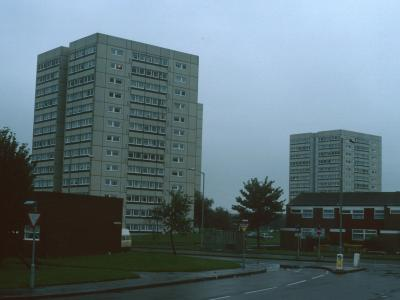 View of Dunford House and Grantley House on Perch Avenue