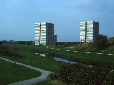 View of 14-storey blocks on Forth Drive