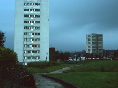 View of Camden Street block in background with Salisbury Tower in foreground