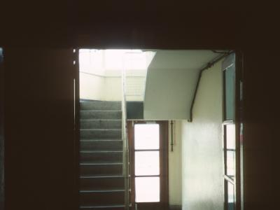 View of 8th storey hallway and lift lobby