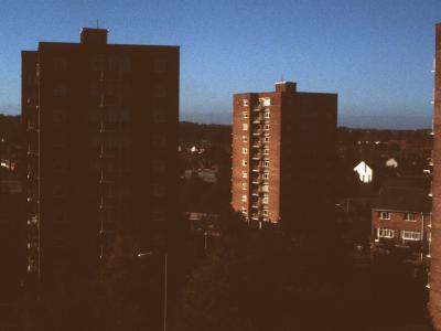 View of 11-storey blocks on Hallet Drive