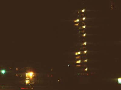 View of Corvedale House at night