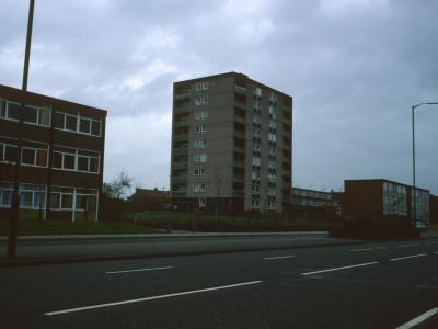 View of 9-storey block on Willenhall Road
