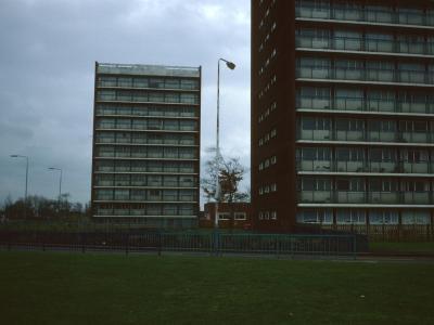 View of two 11-storey blocks in Portobello development