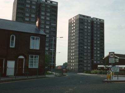 View of 17-storey blocks