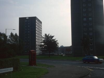 View of 13-storey blocks on Court Lane