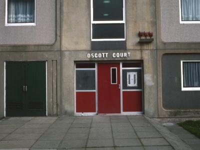 View of entrance to Scott Court
