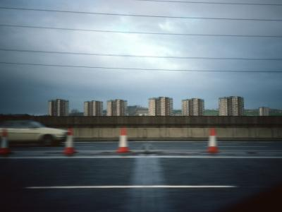 View of 16-storey blocks from M5