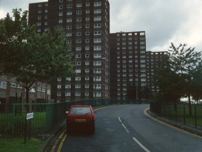 View of all three blocks down Beechcroft Road