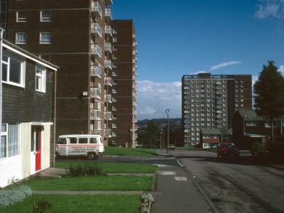 View of 14-storey blocks on Reservoir Road