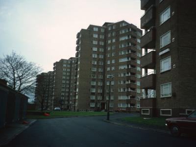 View of 12-storey blocks on Priory Road